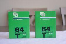 Lot 2 Pack Sealed Fujichrome 64 Professional RTP 64T 10 Sheet 9x12cm FUJI