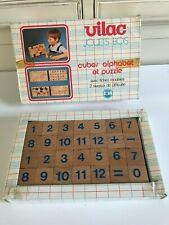 👿 Ancien Jouet En Bois Vilac Cubes Alphabet Et Puzzle Vintage