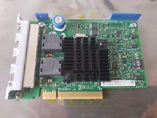Quad Port GbE GE GigaBit EtherNet PCIe 2.0 x4 HP 366FLR 665238-001 Intel I350-T4