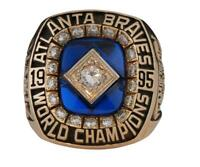 Ring Set Atlanta Braves 1995 MLB Championships Display box Hot Hot