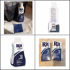 Rit Dye Fabric Liquid 8 Oz Bottle Navy Blue Azul Marino Clothing Hide Laundry