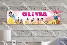 Personalized/Customized Snow White and Seven Dwarfs Name Poster Wall Art Banner