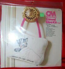 New listing Vtg Columbia Minerva Chessie Cat Door Sign Kit Crewel Embroidery Erica Wilson