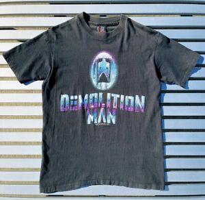 Vintage Demolition Man 1993 Movie Promo Mens Black T-Shirt Size Large