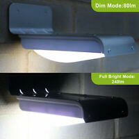 16 LED Solar Power Motion Activated Sensor Garden Security Lamp Waterproof Light