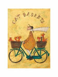 "Sam Toft ""Cat Baskets"" Cat Print 11.75 x 15.75"