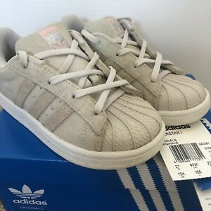 ADIDAS Superstar 1 ~ Girls Trainers Ice Pink Uk Size 9 1/2 Eur 27