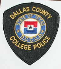 DALLAS COUNTY COMMUNITY COLLEGE POLICE DCCCD Texas TX PD patch