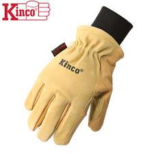 Kinco 901 Mens Leather Ski Gloves Heatkeep Winter Work Warm Thermal Pigskin M Xl