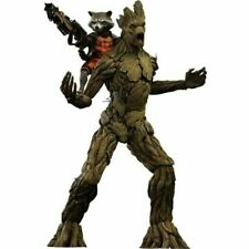 Hot Toys Marvel Guardians of The Galaxy 15 inch Groot and 6 inch Rocket Action Figure - MMS254