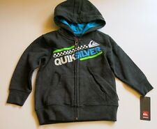 NWT Quiksilver Toddler Boys 24M Black Heather Hooded Sweatshirt Warm 18 Month