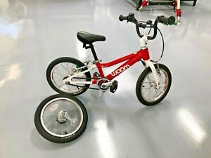 "Woom 2 Red 14"" wheel Kids Bike Aluminum Great Condition"