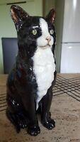 statue chat en céramique