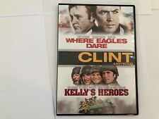 KELLYS HEROS AND WHERE  EAGLES DARE DVD SET  - CLINT EASTWOOD - NEW