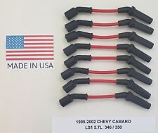 CHEVY CAMARO 1998 1999 2000 2001 2002 LS1 5.7L 346 RED Spark Plug Wire USA MADE!