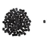 Roues de voiture auto en plastique noir 100x Vanne de pneu Capuchon de tige