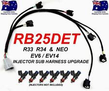RB25DET INJECTOR SUB HARNESS LOOM UPGRADE SKYLINE R33 R34 GTT EV6 EV14 INJECTORS