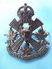 GOVERNOR GENERAL'S HORSE GUARDS CANADIAN ARMY CAVALRY METAL HAT BADGE INSIGNIA