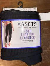 SPANX Moto Shaping Legging Size M Black Faux Leather NEW