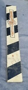 Barber pole folky old paint black / white 4 feet tall