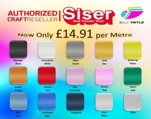 Metre - Siser Sparkle  HTV Vinyl - smooth glitter finish 500mm x 1m