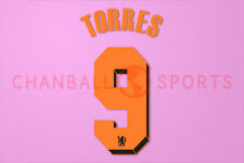 Torres #9 2010-2011 Chelsea UEFA Champions League Awaykit Nameset Printing