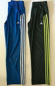 Adidas Joggers Track Athletic Striped Sports Pants Gray Blue Size M Medium 10-12