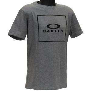 Oakley Jack Tee Mens Size M Medium Graphite Heather Grey Regular Logo T-Shirt