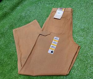 BRAND NEW CARHARTT Brown Duck Canvas Carpenter Pants Boys Size 16