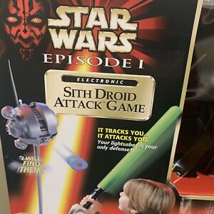 1999 Hasbro Star Wars Episode 1 Electronic Sith Droid Attack Game Sealed & New