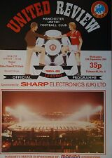 Programm UEFA Cup 1984/85 Manchester United - Raba ETO Györ