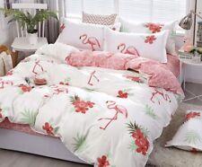 New Flamingo pink 4pcs bedding set Duvet/quilt pillowcase cover FULL QUEENS KING