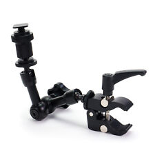 """7"""" Inch Articulating Magic Arm & Crab Clamp Pliers for Digital Camera LED Light"""