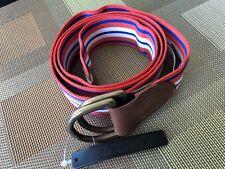 Polo Ralph Lauren Equestrian Grosgrain Belt/Orange,White,Blue/Size M/Brand New