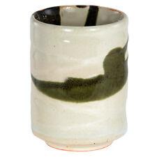 """Japanese Yunomi Sushi Tea Cup 3.25"""" H Porcelain Sumi Nagashi Made in Japan"""