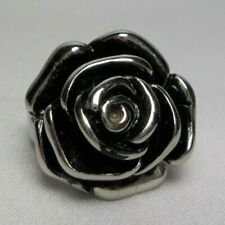 STAINLESS STEEL ROSE FLOWER RING