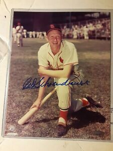 Red Schoendienst Autograph Signed Auto 8x10 Baseball Photo Picture Tristar COA