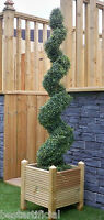 Best Artificial 5ft 150cm Spiral Boxwood Buxus Outdoor Topiary Tree ball bay new