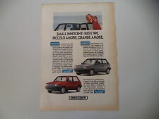 advertising Pubblicità 1991 INNOCENTI SMALL 500 e 990
