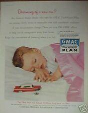 1956 GMAC Kids Promo Car Insurance Photo Art Print Ad