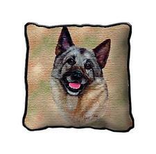 "17"" x 17"" Pillow - Norwegian Elkhound by Robert May 1944"