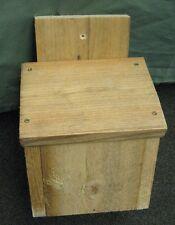 Handmade wooden Stebbings/Walsh Bat Box house - rough-sawn untreated timber