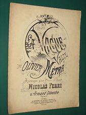 """Partition Piano """"La Vague"""" : valse Olivier MÉTRA"""