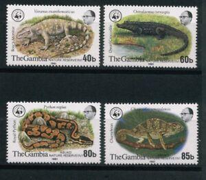 WWF  Gambia Minr. 430-33, Reptilien, VORLÄUFER,  1981