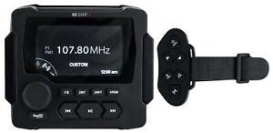 MB Quart GMR-LED Marine Receiver w/Bluetooth/FM/Weather Band/USB+Wireless Remote