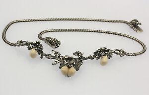 ♦♦ Bartel & Sohn Grandl Collier in 835er Silber Grandel Halskette Ketten Tracht