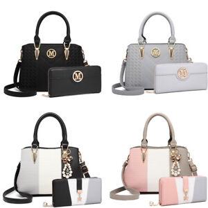 Ladies Faux Leather Shoulder Cross Body Bag Women Tote Handbag Purse Wallet