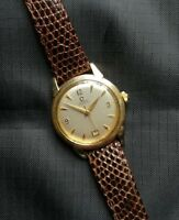 Vintage 14K Gold Filled Omega Calendar at 6 Bumper Automatic Watch