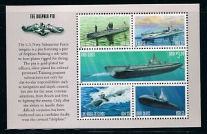 US Scott 3377a Navy Submarine booklet pane of 5 Stamps 2020 CV $15.00