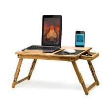 Morvat Bed Desk for Laptop with Built in Mouse Pad, Adjustable Laptop Tray fo...